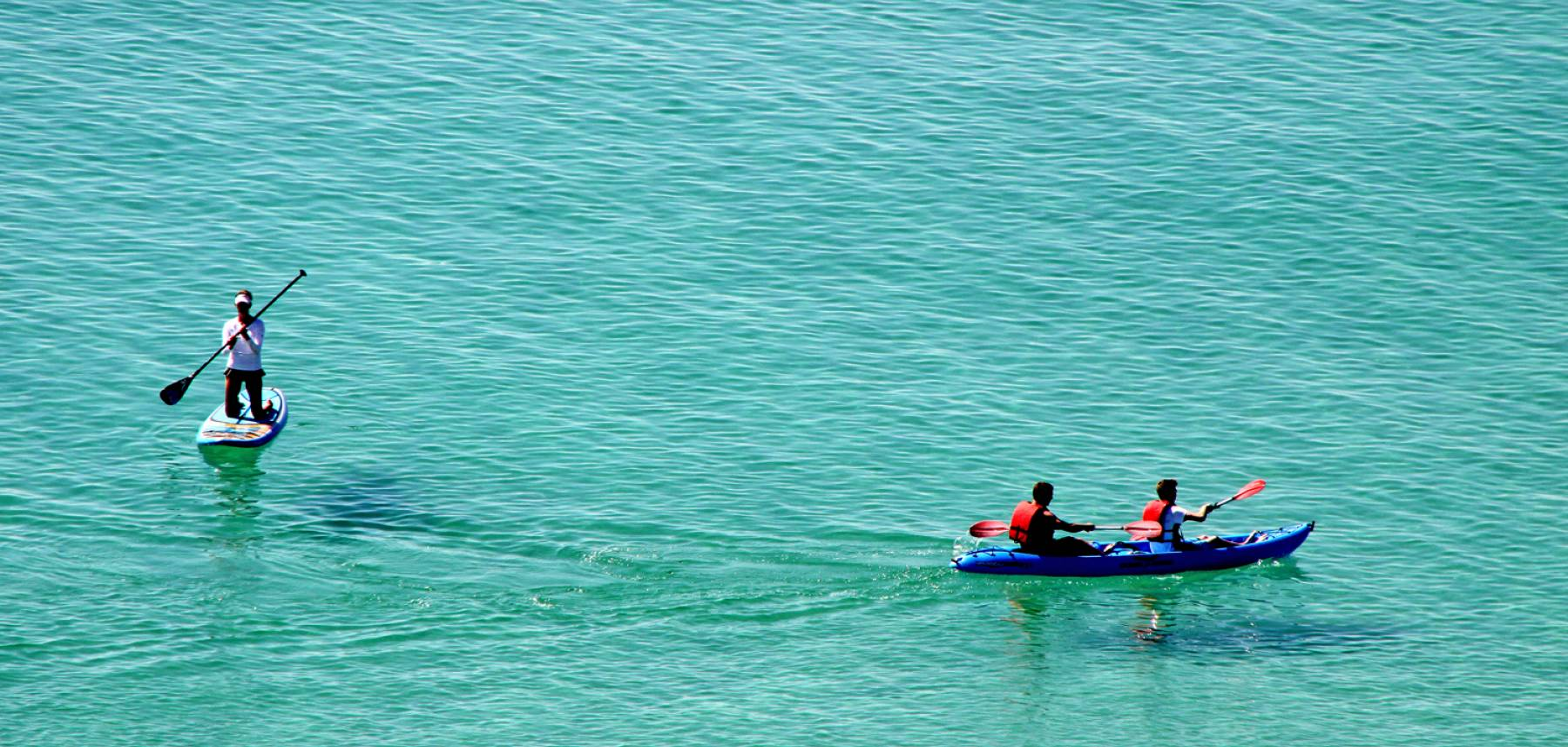 Boats in the Gulf of Mexico along the shores of Destin